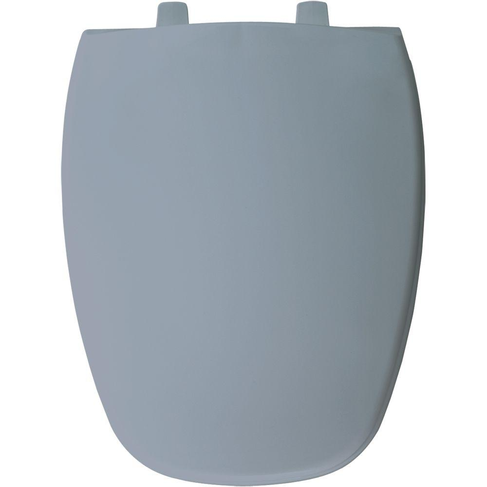 Elongated Closed Front Toilet Seat in Glacier Blue