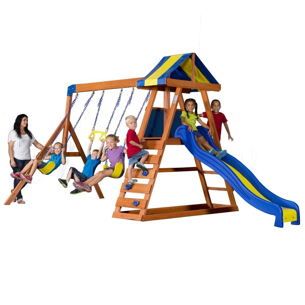 Backyard Discovery Dayton All Cedar Playset-65014com - The Home Depot