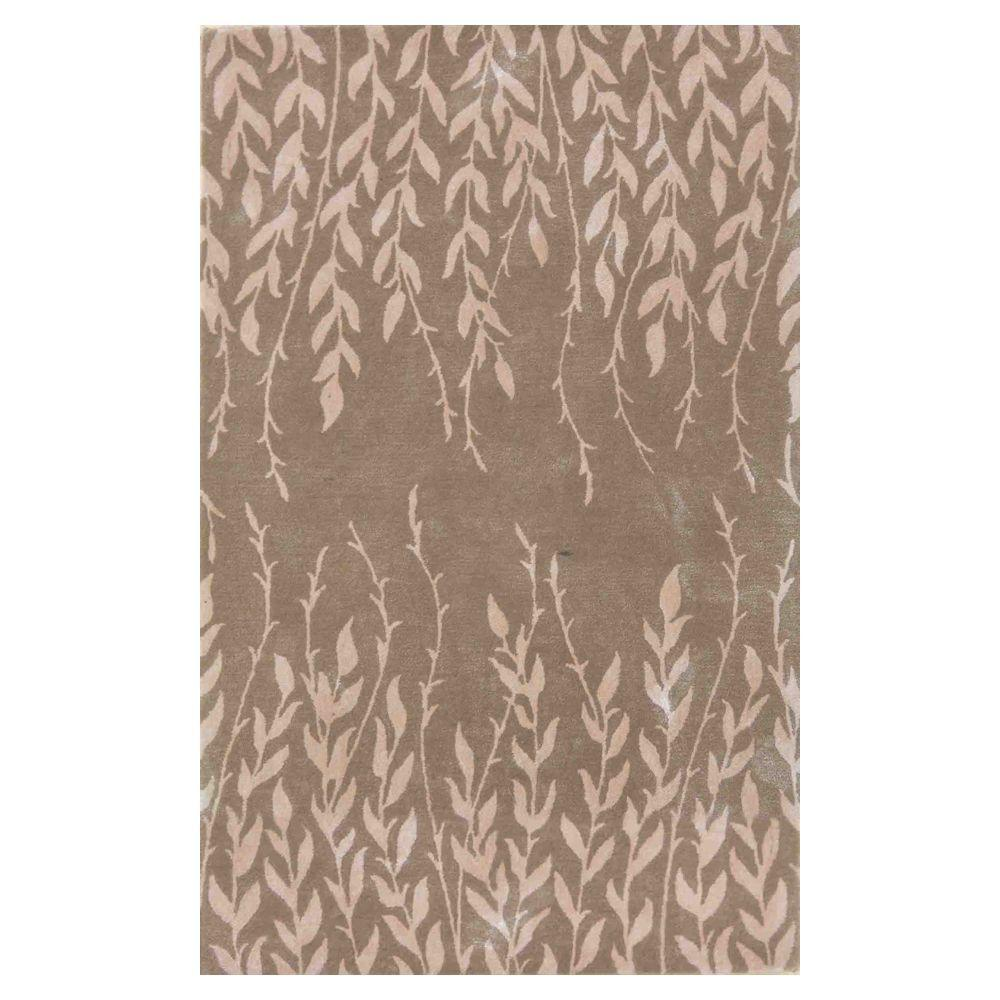 Kas Rugs Bob Mackie Home Beige Tranquility 8 ft. x 11