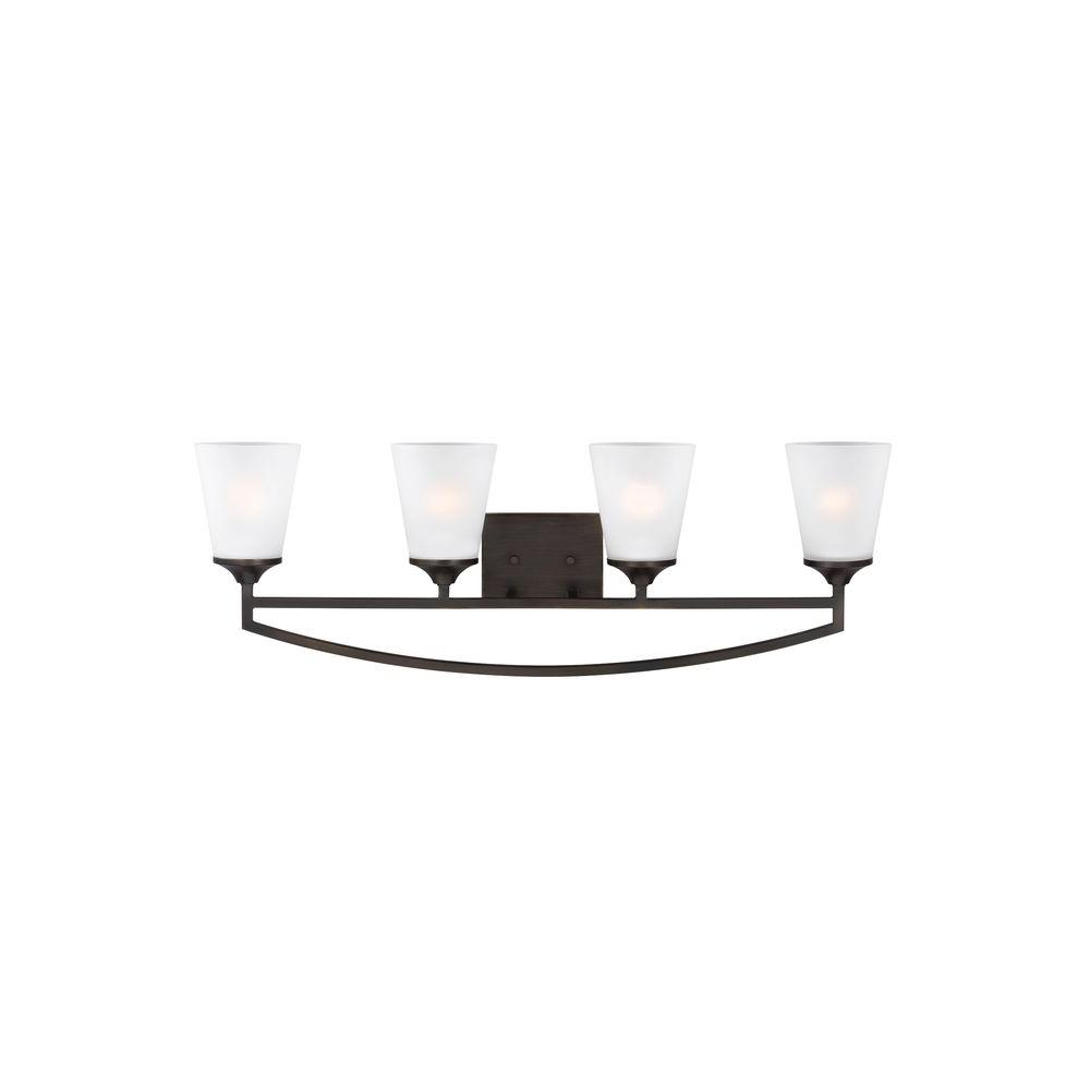 Hanford 4-Light Burnt Sienna Vanity Light