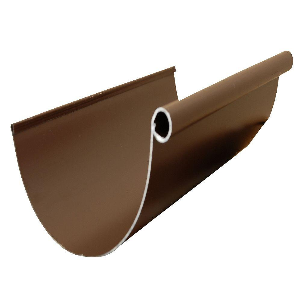 5 in. Half Round 10 ft. Royal Brown Aluminum Gutter