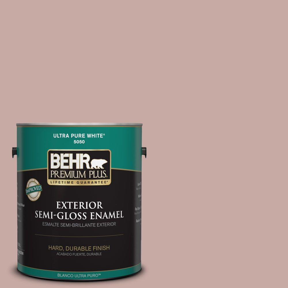 BEHR Premium Plus 1-gal. #700A-3 Pottery Clay Semi-Gloss Enamel Exterior Paint