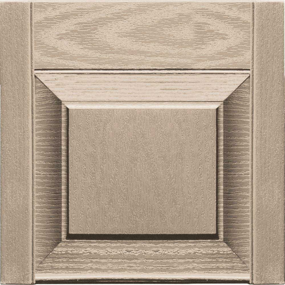Builders Edge 12 in. x 12 in. Raised Panel Design Wicker Transom Tops Pair #023-DISCONTINUED
