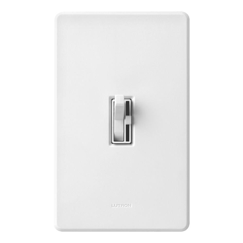 Lutron Toggler 600-Watt 3-Way Dimmer with Night Light - White-AY-603PNL-WH -