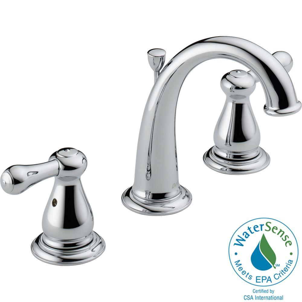 Delta Leland 8 in. Widespread 2-Handle High-Arc Bathroom Faucet in Chrome