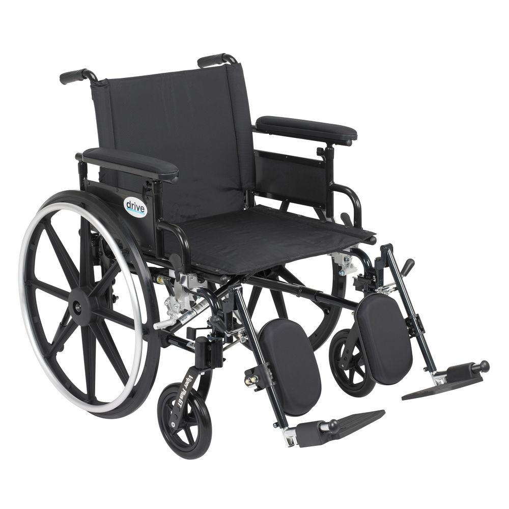 Drive Viper Plus GT Wheelchair with Removable Flip Back Adjustable Full