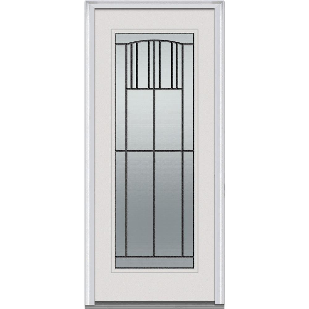 Milliken Millwork 33.5 in. x 81.75 in. Madison Decorative Glass Full