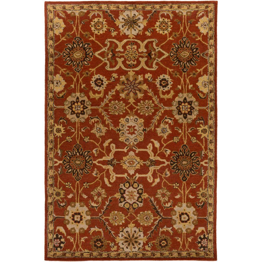 Middleton Jenna Rust 8 ft. x 11 ft. Indoor Area Rug