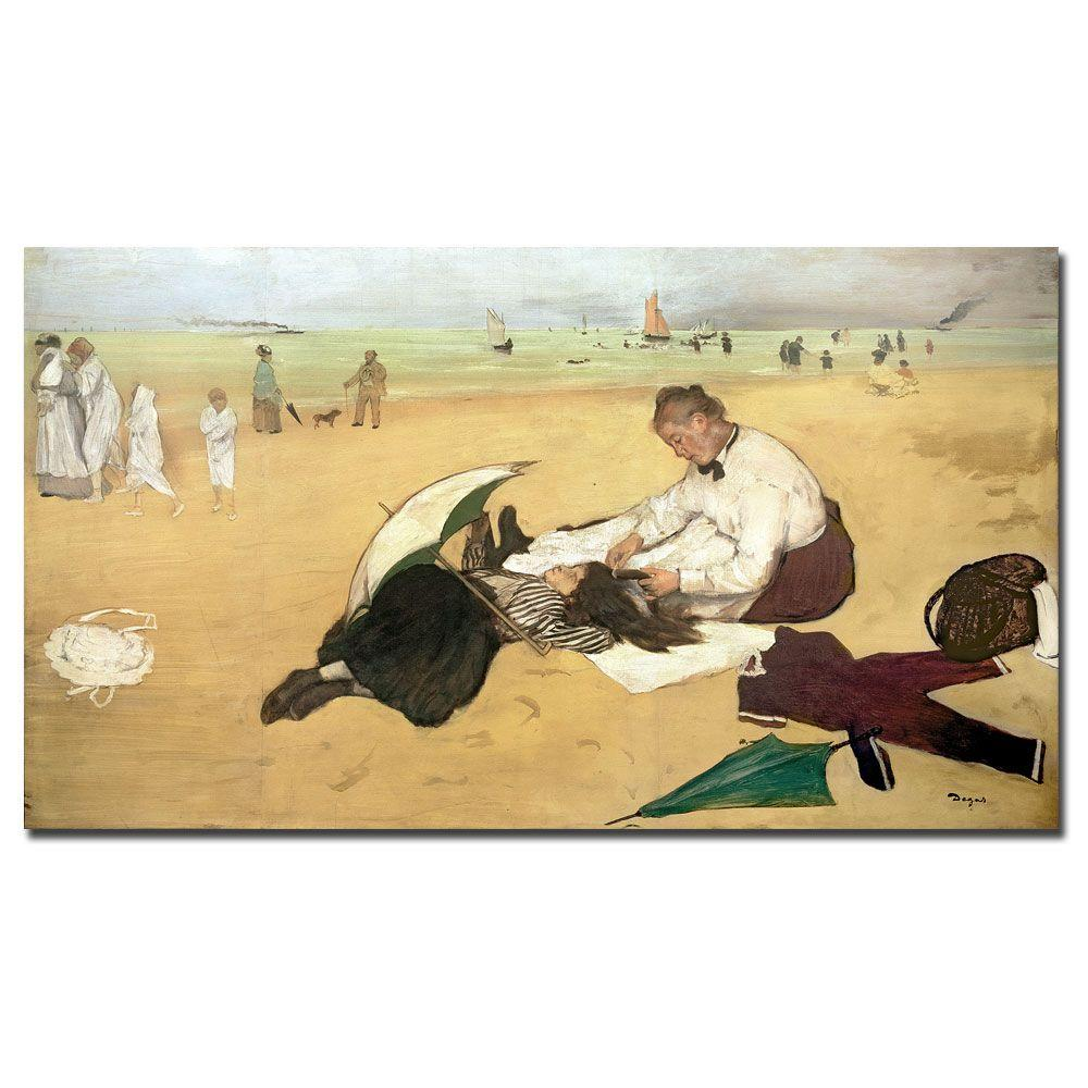 Trademark Fine Art 18 in. x 32 in. Beach Scene Canvas