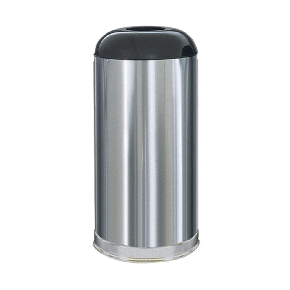 Marshal 15 Gal. Satin Stainless Steel Open Top Trash Can