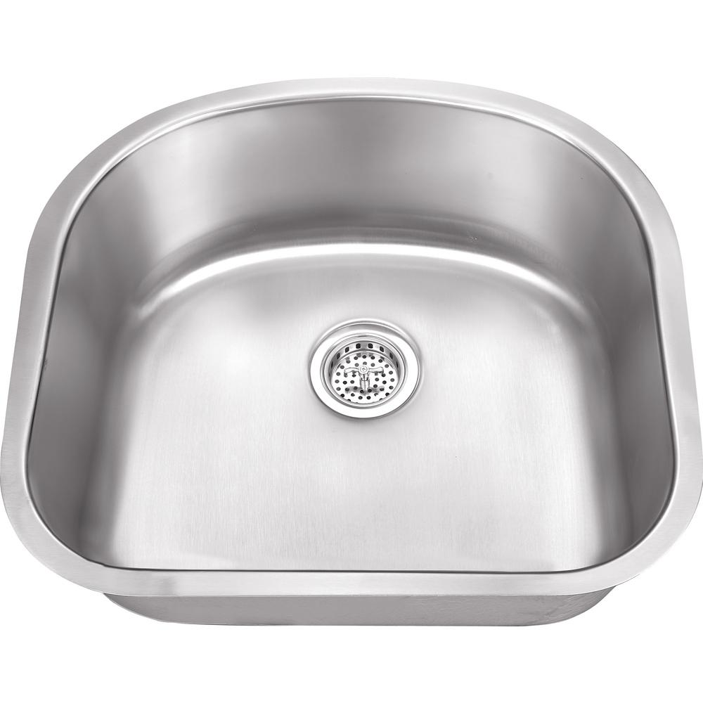 Undermount 23 in. 16-Gauge Stainless Steel Kitchen Sink in Brushed Stainless
