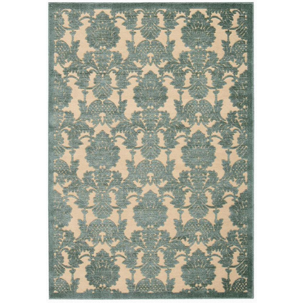 Graphic Illusions Teal (Blue) 5 ft. 3 in. x 7 ft. 5 in. Area Rug