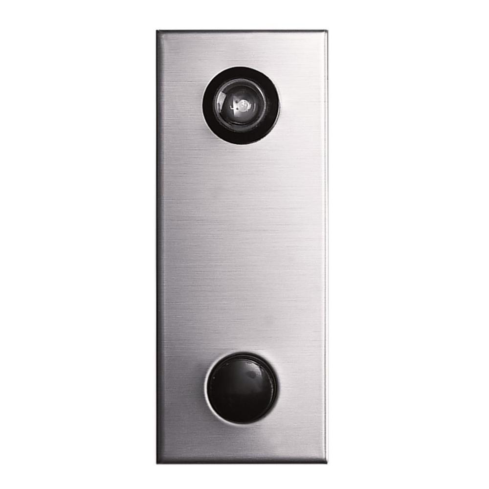 Auth-Chimes 145 Degree Anodized Silver Door Viewer with Mechanical Chime