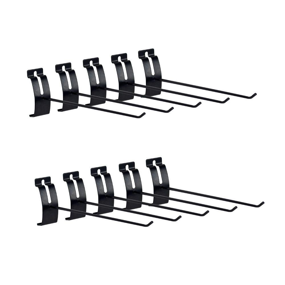 InstallBay Garage 12 in. Single Hook (10-Pack)-ISH12 - The Home Depot