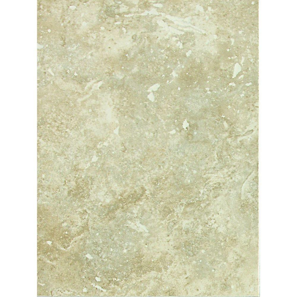 Heathland White Rock 9 in. x 12 in. Ceramic Wall Tile