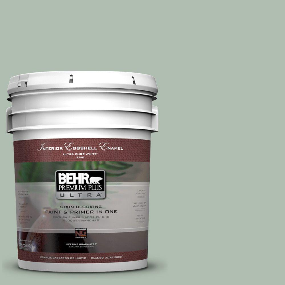 BEHR Premium Plus Ultra 5-gal. #450E-3 Southern Breeze Eggshell Enamel Interior