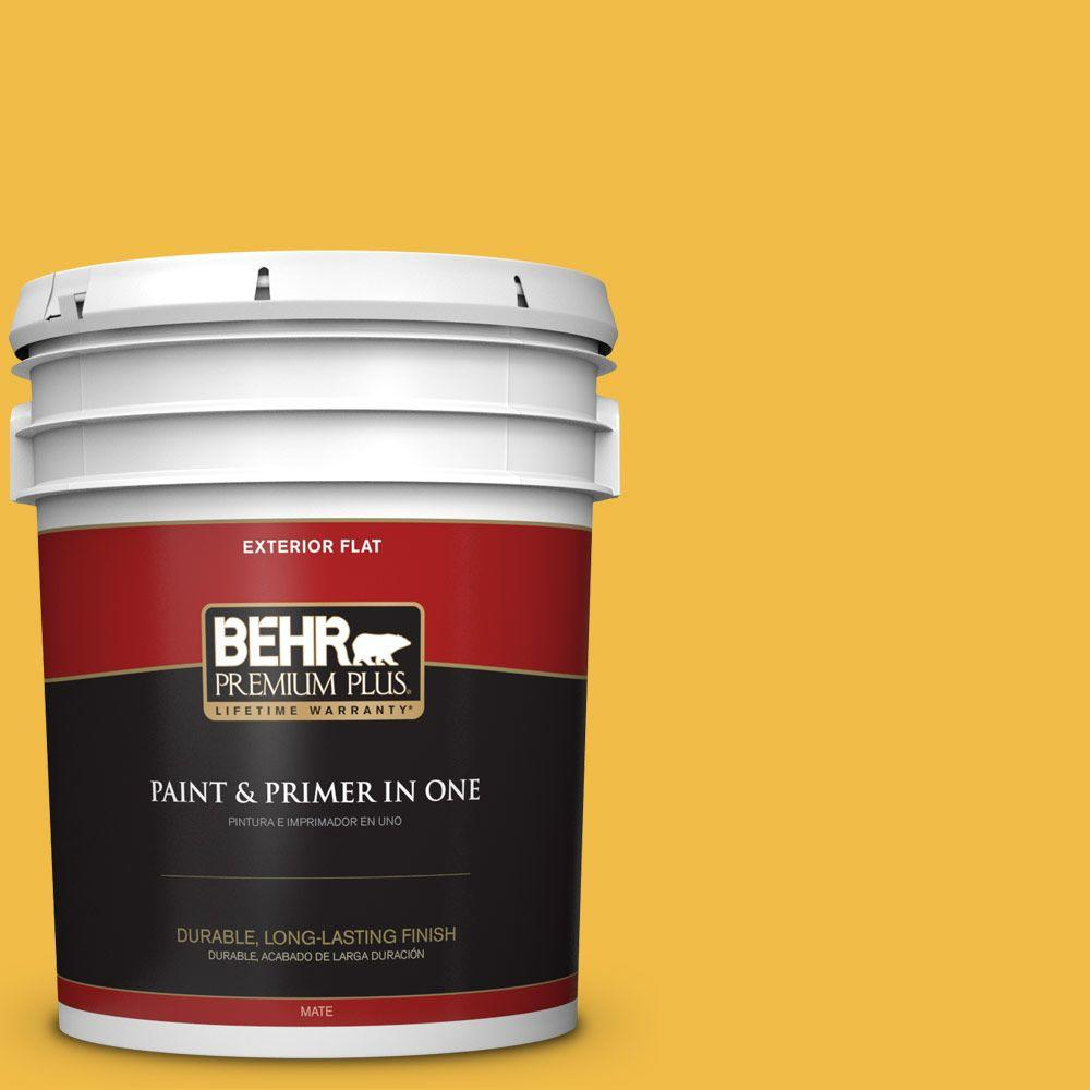 5-gal. #P280-6 Bling Bling Flat Exterior Paint