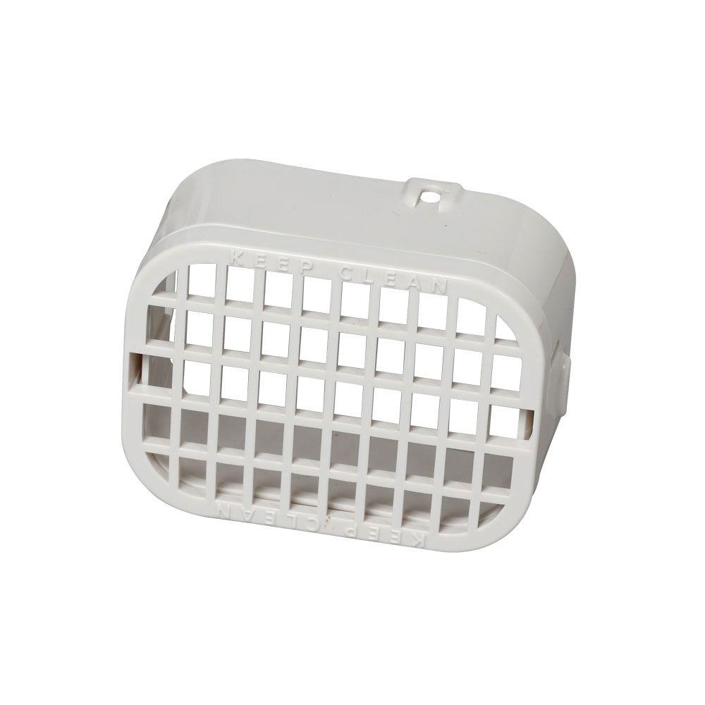 Amerimax Home Products 2 in. x 3 in. Plastic White Rodent Guard
