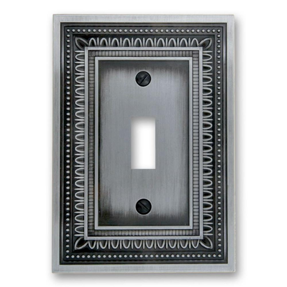 Filigree 1 Toggle Wall Plate - Antique Nickel