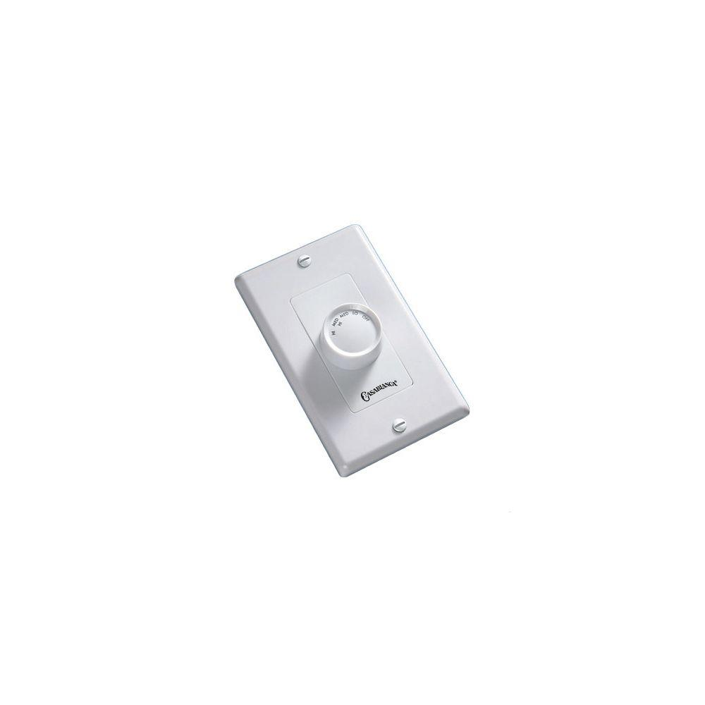 Casablanca 4-Speed Almond and White Rotary Wall Control-DISCONTINUED