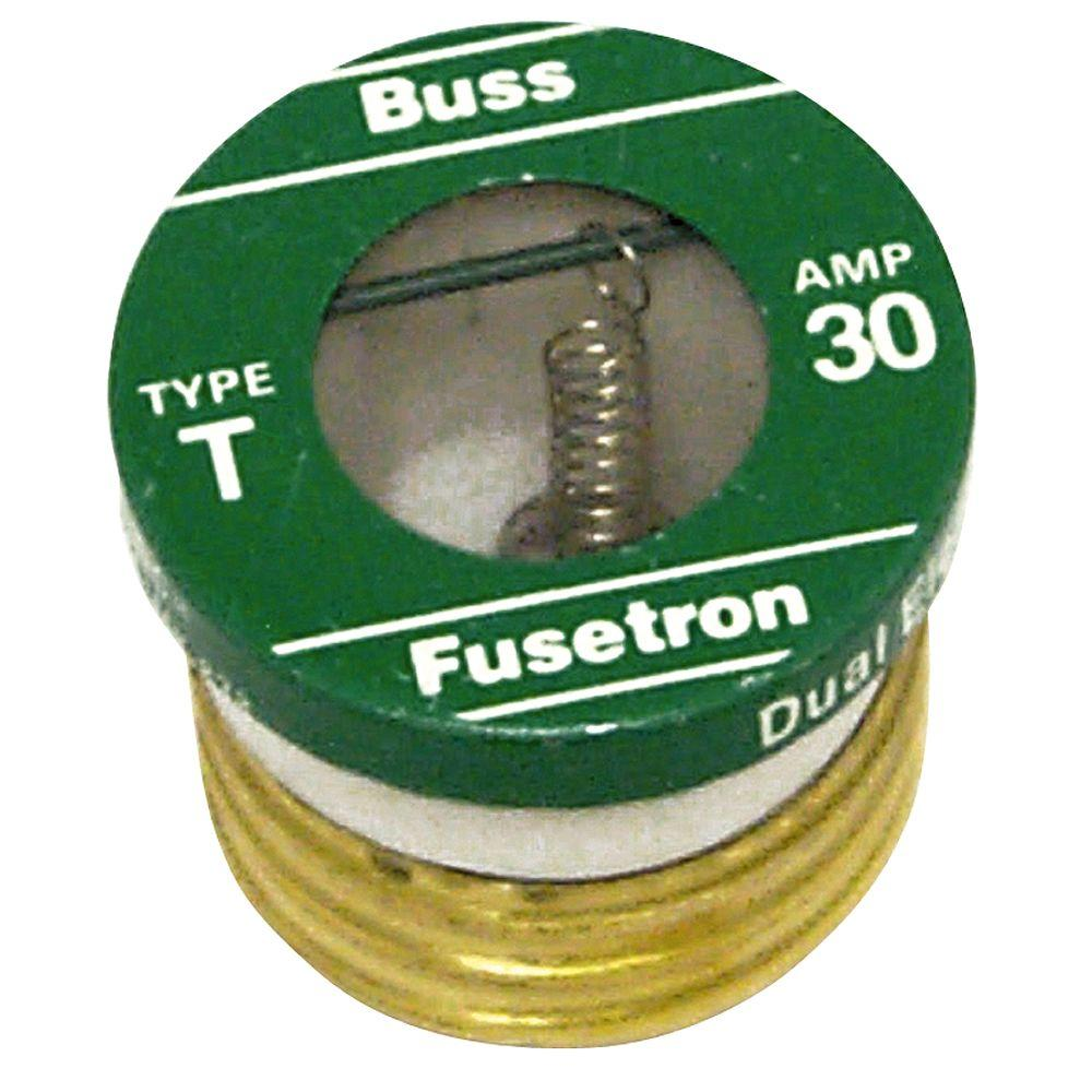 Cooper Bussmann T Series 30 Amp Plug Fuses (2-Pack)-BP/T-30 - The