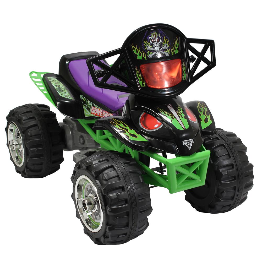Monster Jam Grave Digger Quad 12-Volt Battery Powered Ride-On-164554 - The