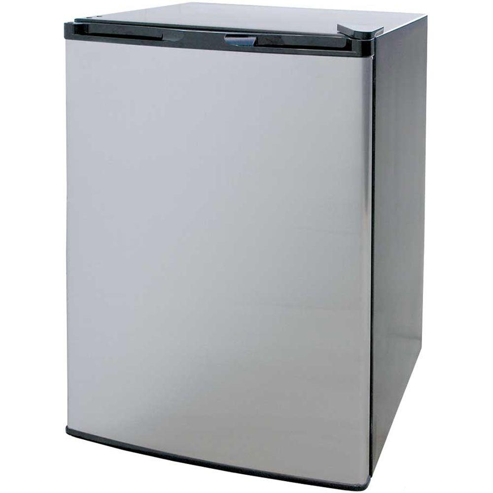 Cal Flame 4.6 cu. ft. Mini Refrigerator in Stainless Steel with Black Cabinet