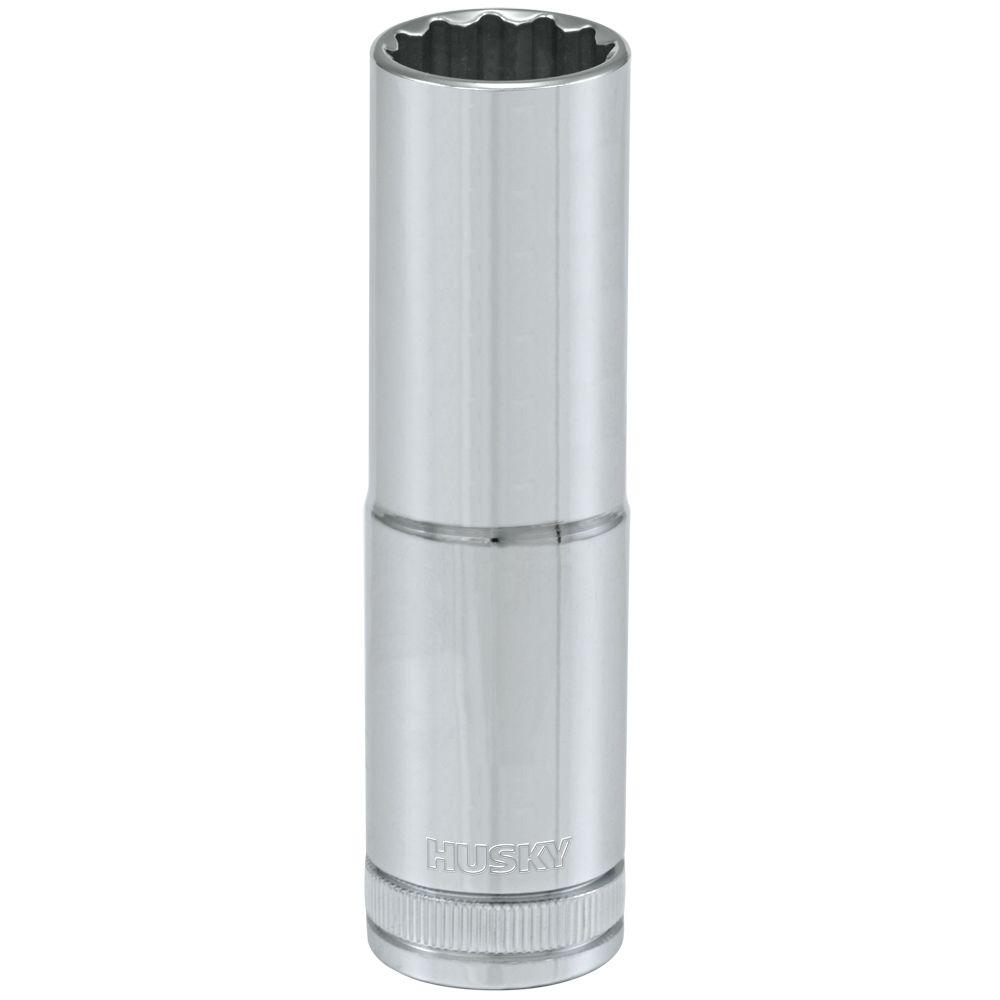 Husky 1/2 in. Drive 15 mm 12-Point Metric Deep Socket
