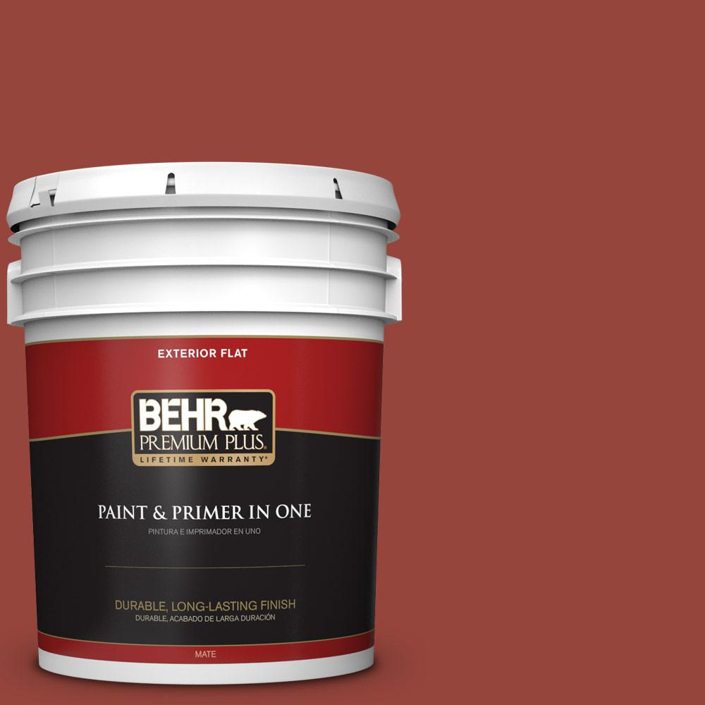 5 gal. #PPU2-17 Morocco Red Flat Exterior Paint