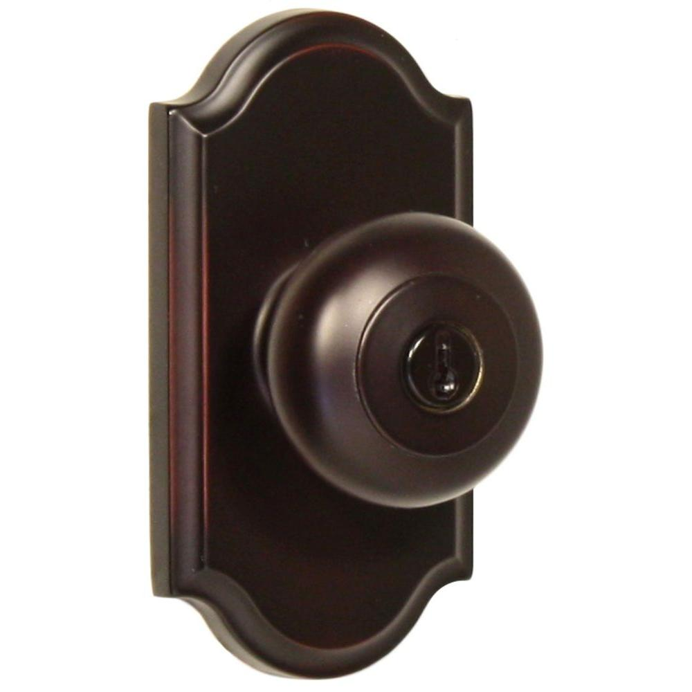 Elegance Oil Rubbed Bronze Premiere Keyed Entry Impresa Knob
