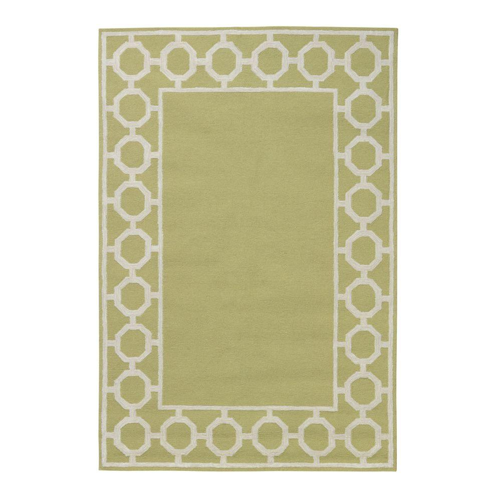 Home Decorators Collection Espana Border Sage 7 ft. 6 in. x