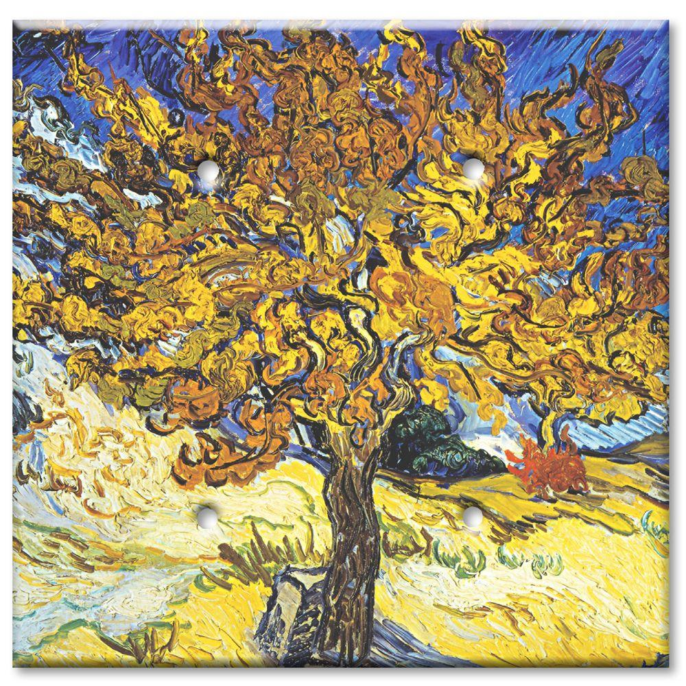 Art Plates Van Gogh Mulberry Tree 2 Blank Wall Plate