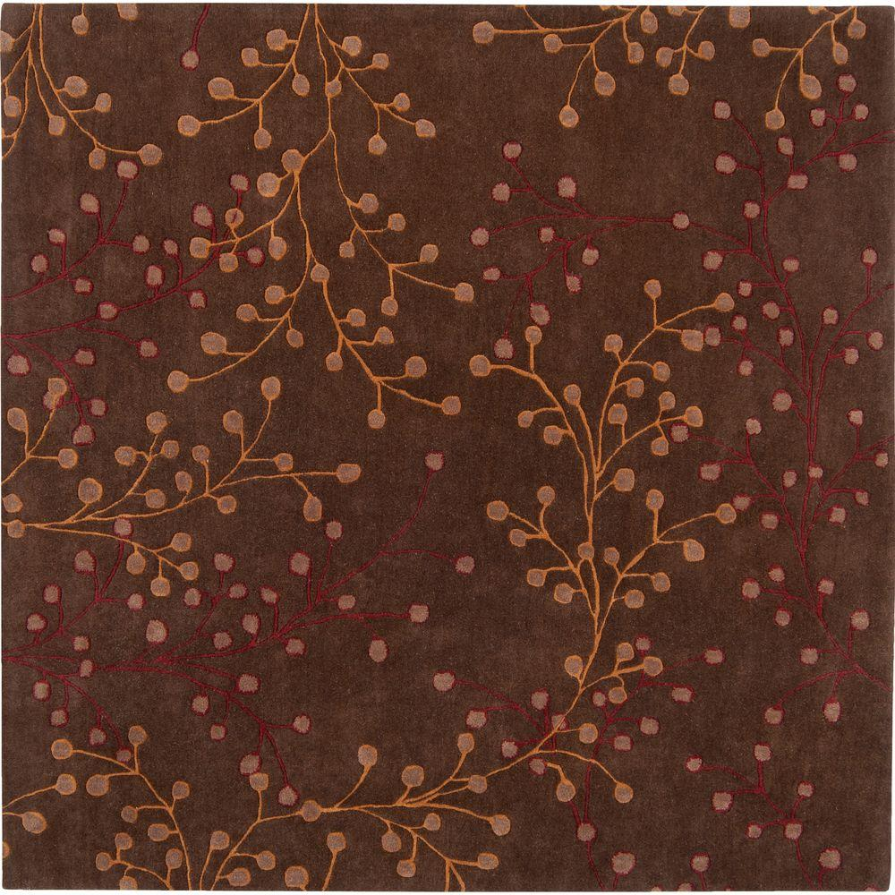 Artistic Weavers Bari Chocolate 9 ft. 9 in. x 9 ft. 9 in. Square Area Rug