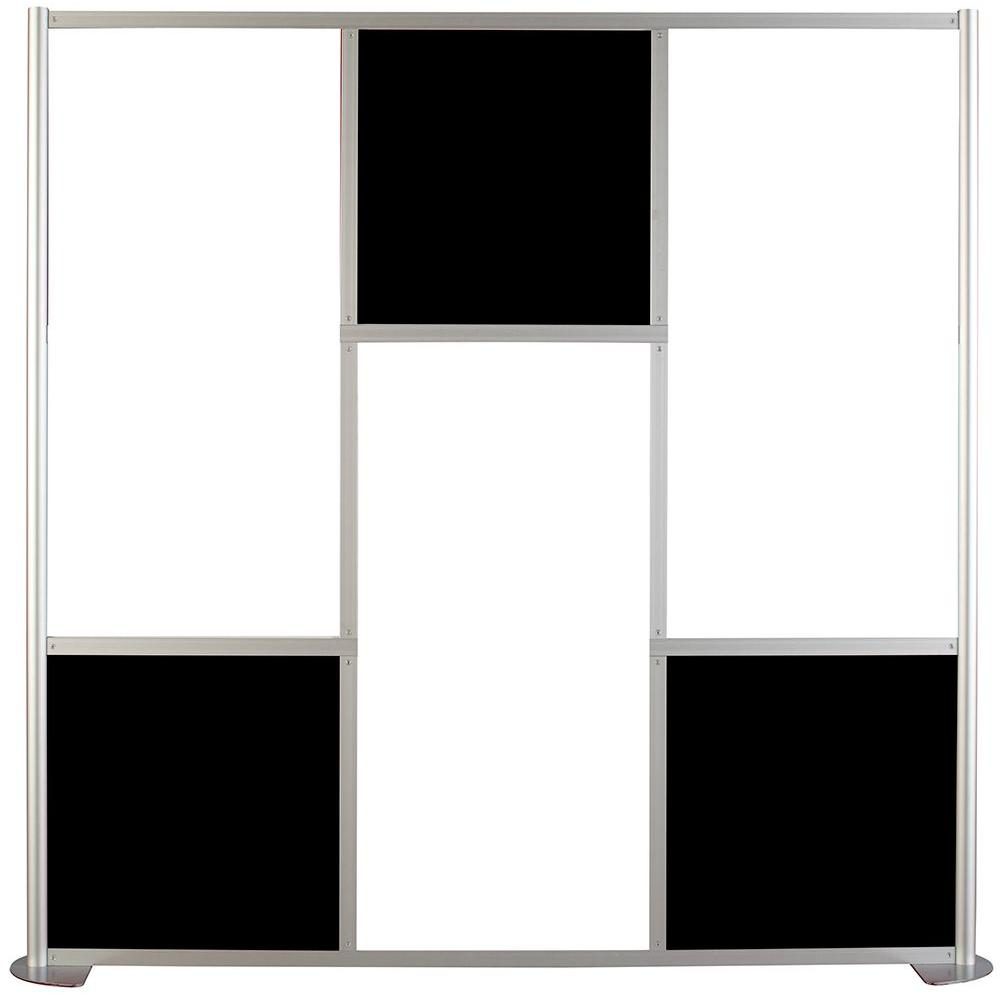 Contractors Wardrobe uDivide 6.28 ft White and Black 6-Panel  Room Divider