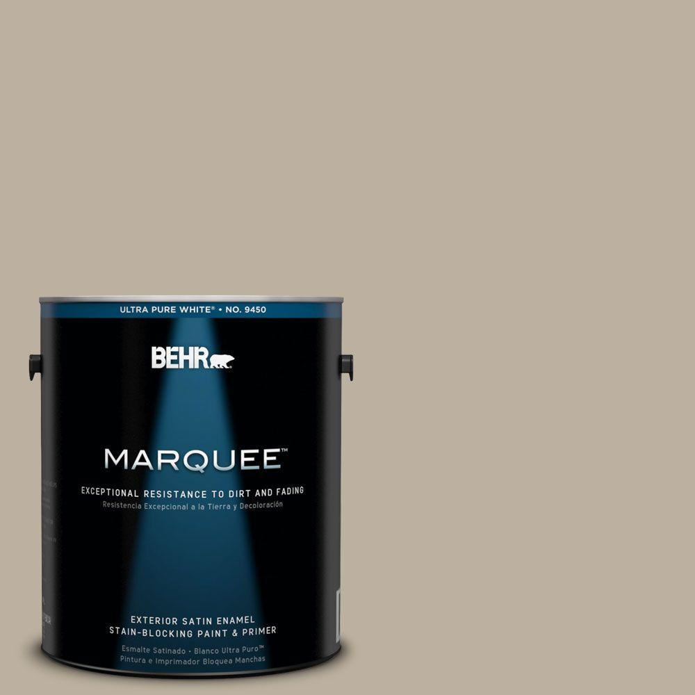 BEHR MARQUEE 1-gal. #750D-4 Pebble Stone Satin Enamel Exterior Paint