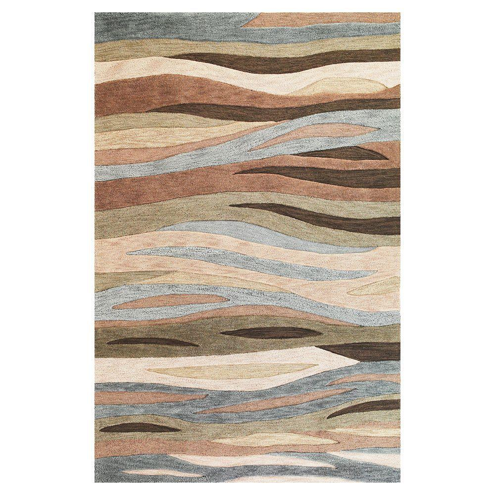 Tidal Sands Green 9 ft. x 13 ft. Area Rug