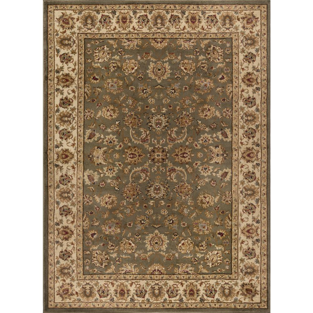 Tayse rugs elegance green 7 ft 6 in x 9 ft 10 in for 7 x 9 dining room rugs