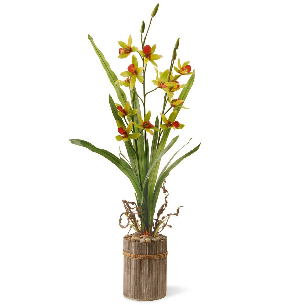 National Tree Company 30 in. Garden Accents Potted Flower-GAPF30-30G - The