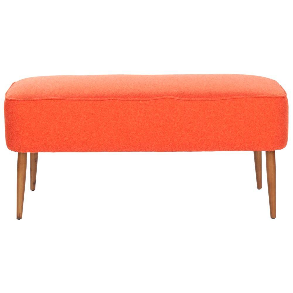 Safavieh Levi Bench in Burnt Orange-MCR4609A - The Home Depot