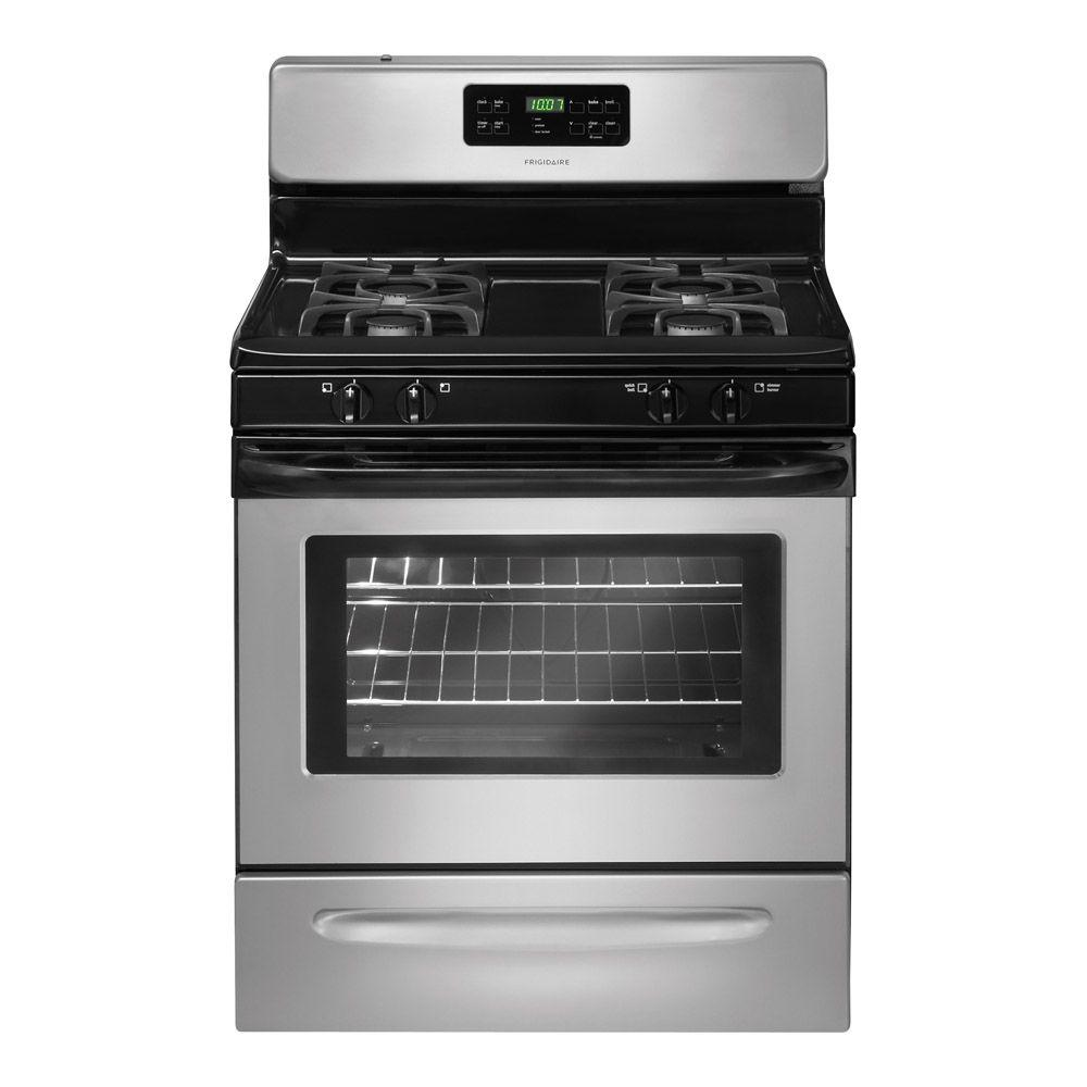 Frigidaire 30 in. 5.0 cu. ft. Gas Range with Self-Cleaning Oven in Silver Mist