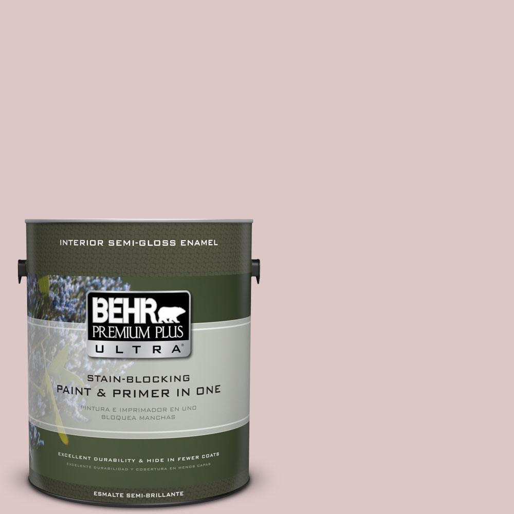 1-gal. #130E-2 Fairview Taupe Semi-Gloss Enamel Interior Paint