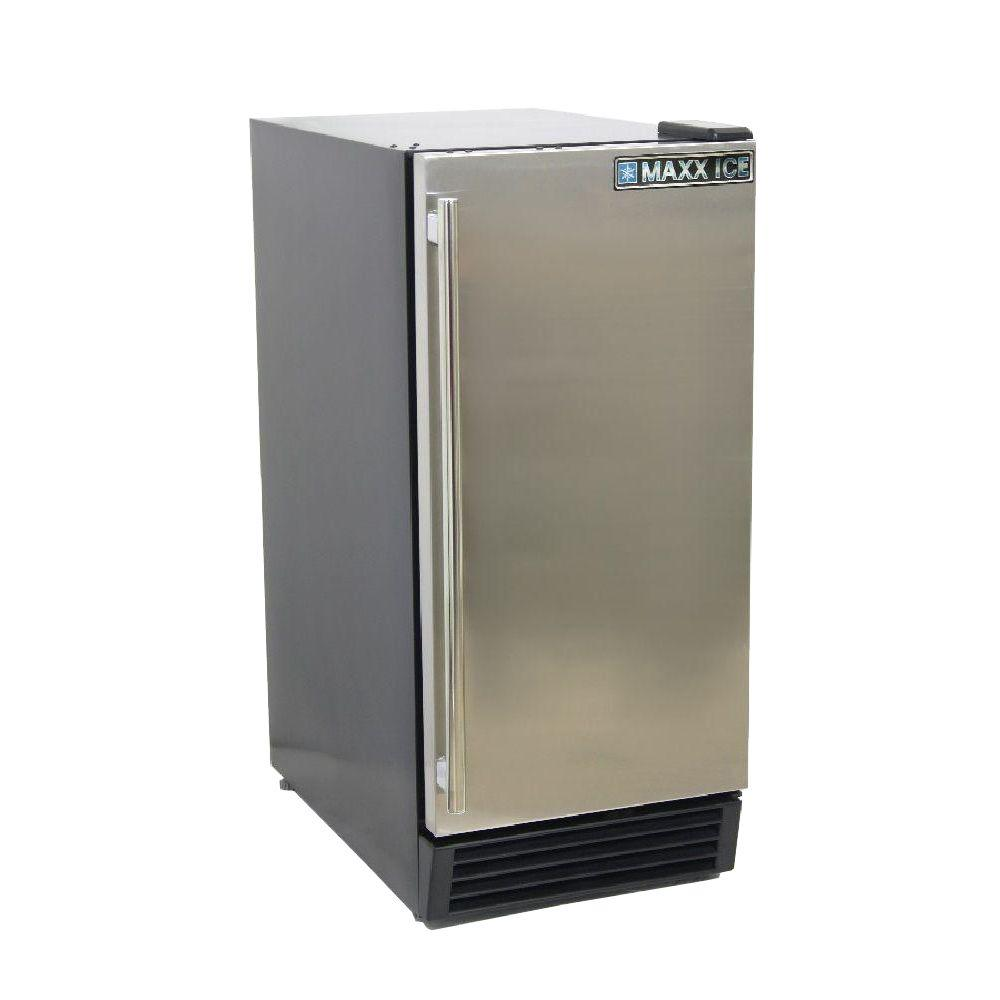 3 cu. ft. Single Door Mini Refrigerator in Black with Stainless