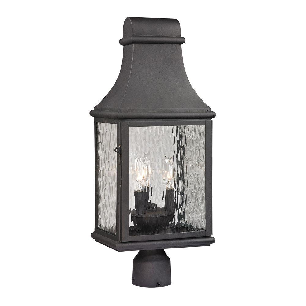 Titan Lighting Worcester Forge Collection 3-Light Charcoal Outdoor Post