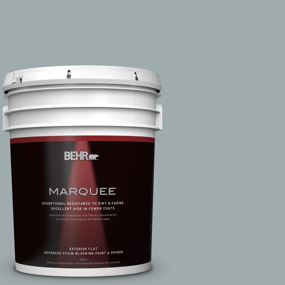 BEHR MARQUEE 5-gal. #QE-52 Portsmouth Bay Flat Exterior Paint-445405 - The