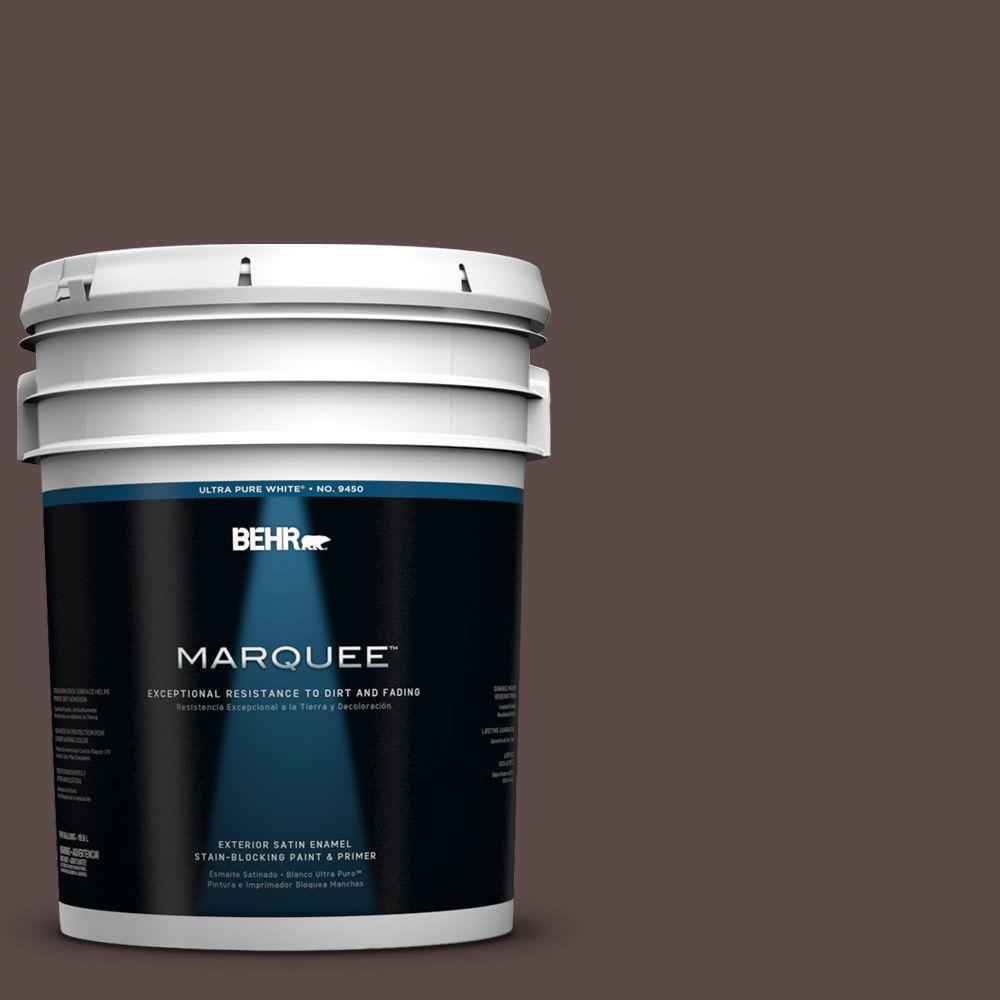 BEHR MARQUEE 5-gal. #740B-7 Smooth Coffee Satin Enamel Exterior Paint