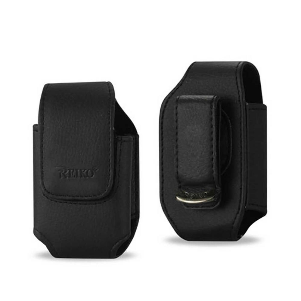 Small Vertical Leather Holster in Black