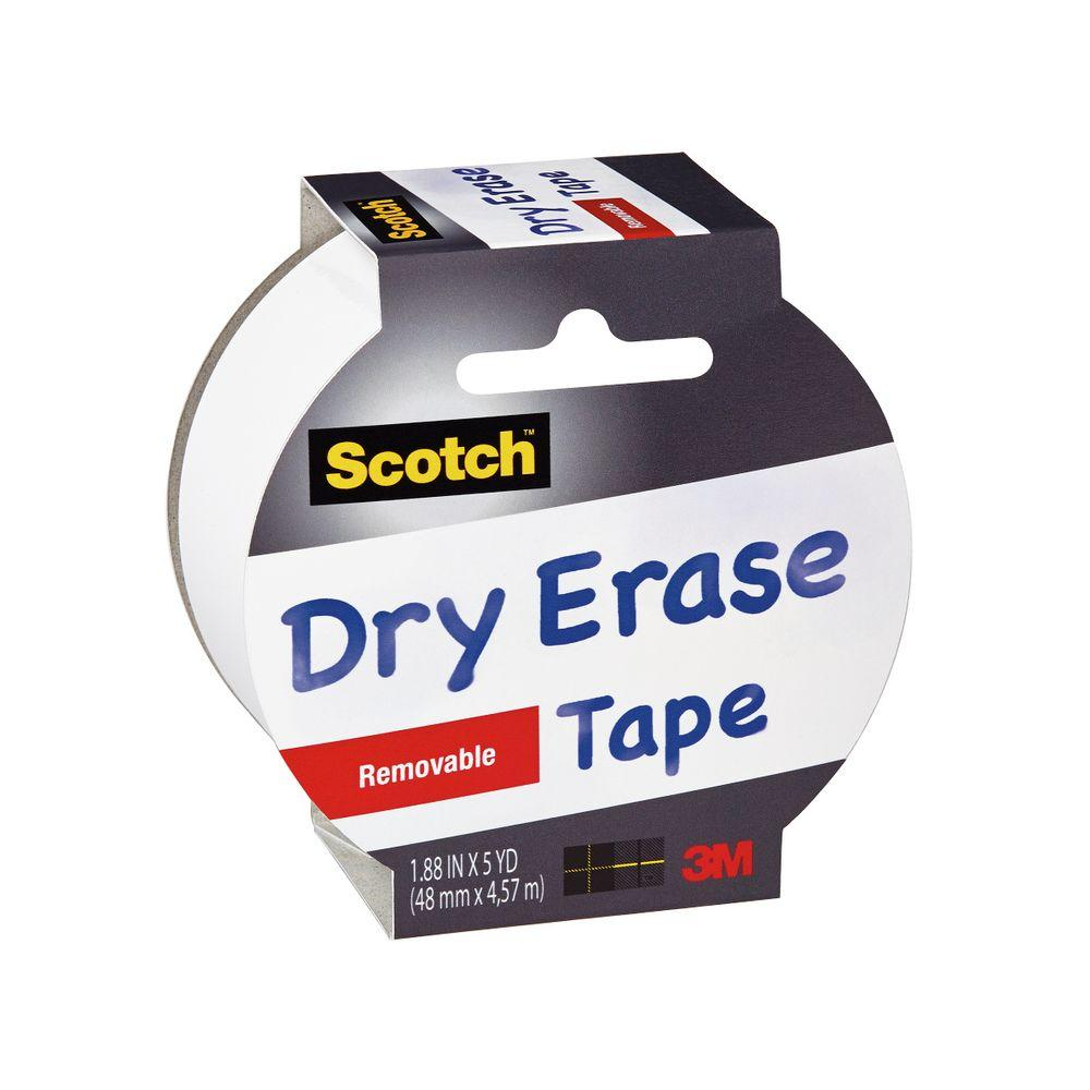 Scotch 1.88 in. x 5 yds. Removable Dry Erase Tape