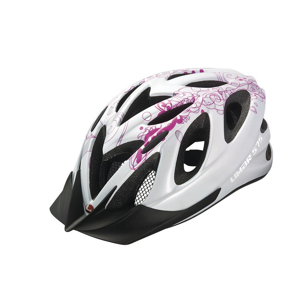 575 White and Pink Sport Action Bicycle Helmet