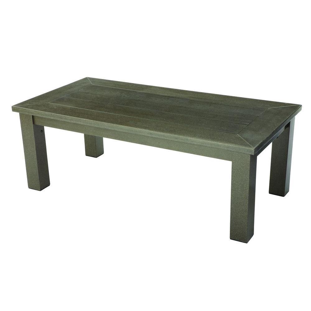 Hampton Bay Walnut Creek Durawood Patio Coffee Table-DISCONTINUED