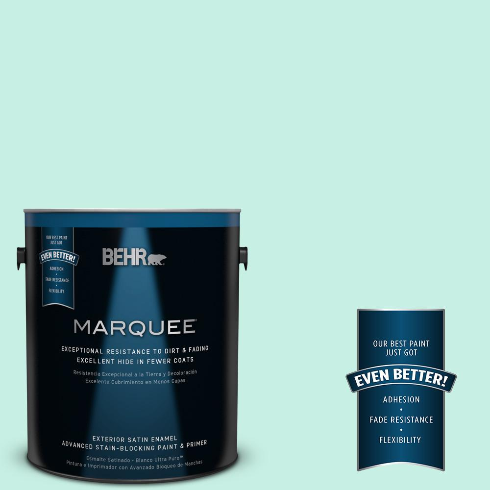 BEHR MARQUEE 1-gal. #P430-1 Summer House Satin Enamel Exterior Paint-945001 -